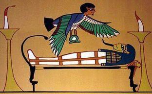 dibujo sarcófago y deidad